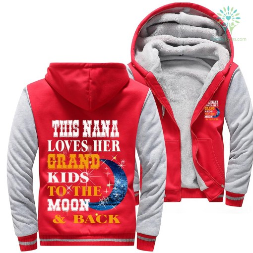 This nana loves her grand kids to the moon & back woman hoodie %tag familyloves.com