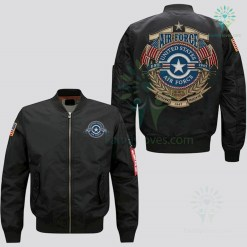 familyloves.com U.S AIR FORCE EMBROIDERED JACKET, THIS WE'LL DEFEND, DEFENDING FREEDOM %tag
