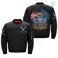 familyloves.com U.S AIR FORCE, I'M NOT RETIRED, ONCE AN AIR FORCE ALWAYS AN AIR FORCE OVER PRINT JACKET %tag