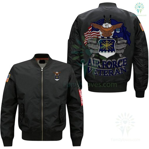 U.S AIR FORCE VETERAN EMBROIDERED JACKET %tag familyloves.com