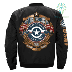 familyloves.com U.S Airforce Veteran OVER PRINT JACKET %tag