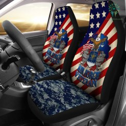 U.S Airforce Veteran Car Seat Cover %tag familyloves.com