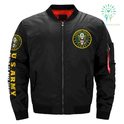 U.S.ARMY - Proud To Have Served - Since 1775 OVER PRINT JACKET %tag familyloves.com