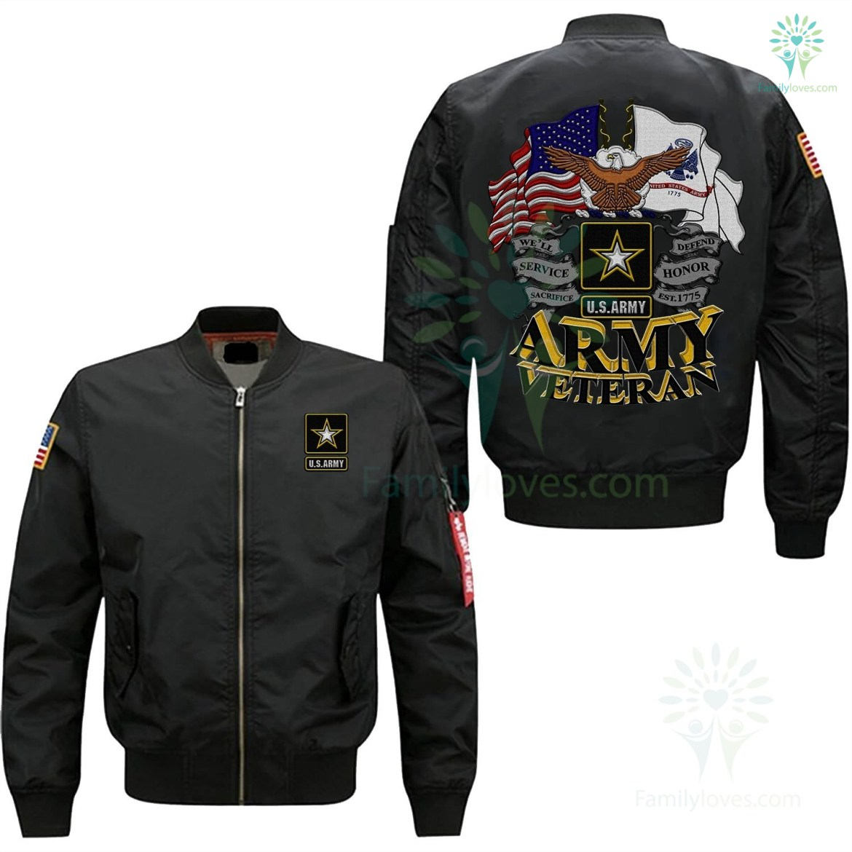 U.S ARMY VETERAN EMBROIDERED JACKET %tag familyloves.com