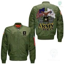 familyloves.com U.S ARMY VETERAN EMBROIDERED JACKET %tag