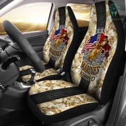 familyloves.com U.S MARINE RETIRED CAR SEAT COVER %tag