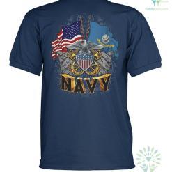 familyloves.com U.S.NAVY SINCE 1775 VETERAN POLO SHIRT %tag