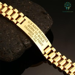 familyloves.com U.S Navy Seabees Born To Build Trained To Fight Since 1942 men's bracelets Default Title %tag