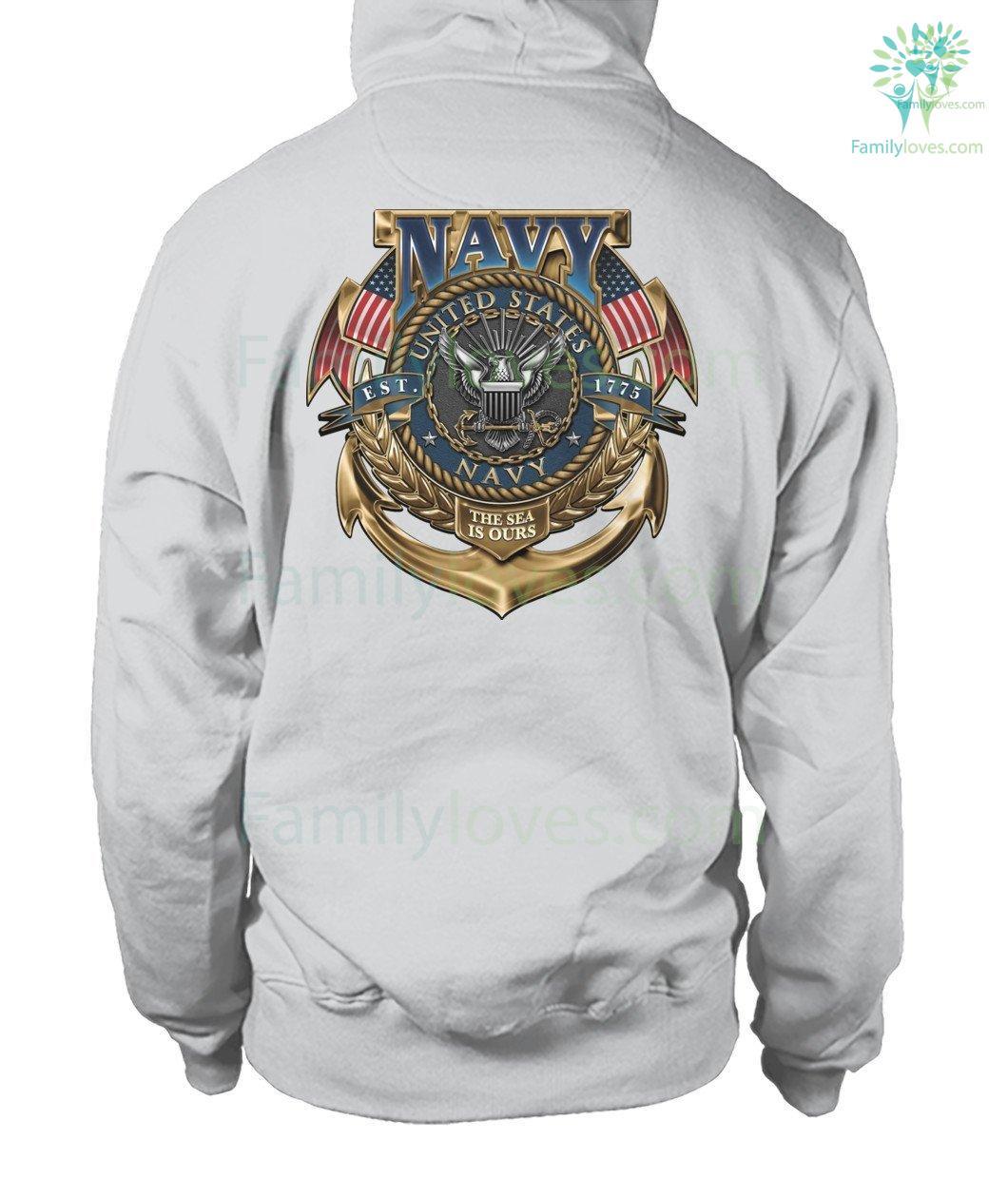 United States Navy-Anytime Anywhere Hooded Sweatshirt