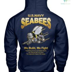U.S.NAVY SEABEES, WE BUILD WE FIGHT Gildan Hoodie & Unisex Long Sleeve %tag familyloves.com