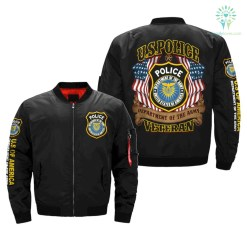 U.S.POLICE Department of the Army VETERAN OVER PRINT jacket %tag familyloves.com