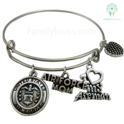 United States Air Force Mom Bangle Stainless Steel Default Title %tag familyloves.com