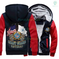 US COAST GUARD RETIRED HOODIE %tag familyloves.com