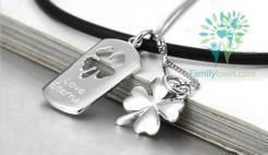 familyloves.com Valentine's day gifts`couple necklaces silver love eternal jewelry %tag