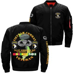 familyloves.com Vietnam combat 101st airborne div screaming eagles veteran war over print jacket %tag