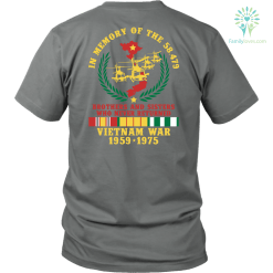 familyloves.com VIETNAM WAR 1959-1975,IN MEMORY OF THE 58479 BROTHERS AND SISTERS WHO NEVER RETURNED - T SHIRT %tag