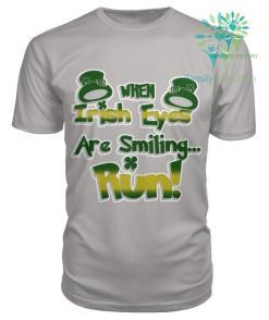 WHEN IRISH EYES ARE SMILING...RUN St. Patricks shirt, St. Patrick's Day shirt, St. Patricks day, St Pattys day shirt, Sizes S-5XL %tag familyloves.com