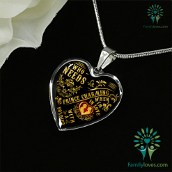 Who needs prince charming, when i'm in love with a soldier Luxury Necklace & Bangle Adjustable Bangle Luxury Adjustable Necklace %tag familyloves.com
