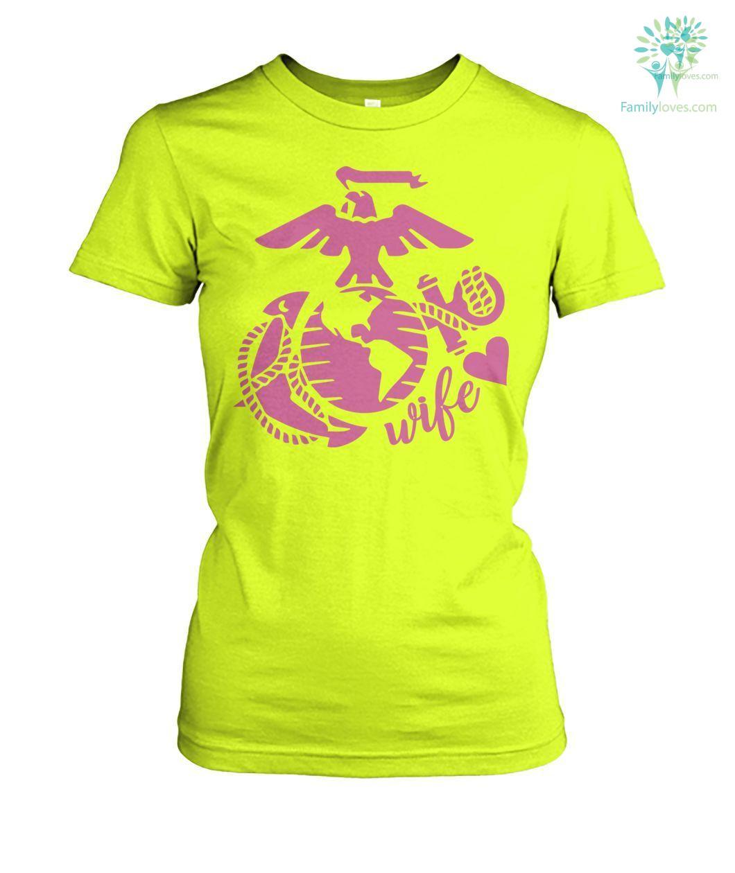 Wife Marines women t-shirt, hoodie Familyloves.com