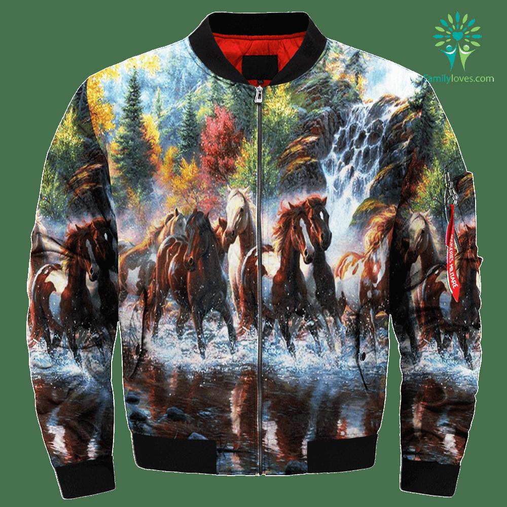 Wild Horse over print jacket %tag familyloves.com