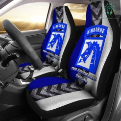 familyloves.com XVIII Airborne Corps since 1942 Car Seat Covers %tag