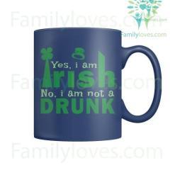 familyloves.com YES, I AM IRISH - MUGS St. Patricks shirt, St. Patrick's Day shirt, St. Patricks day, St Pattys day shirt, Sizes S-5XL %tag