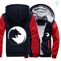 Ying yang wolf Jacket for wolves Lovers. %tag familyloves.com