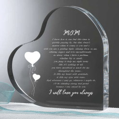 familyloves.com Mom i know how it can feel like time is Heart Keepsake %tag