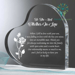 To The Best Mother In Law Heart Keepsake %tag familyloves.com