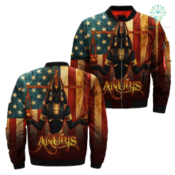 3D Printed American Anubis Art Over Print Jacket payment shipping %tag familyloves.com