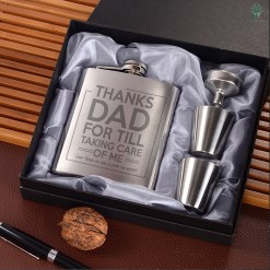 Thanks dad for till taking care of me Portable Stainless Steel Boxed Laser Engraving %tag familyloves.com