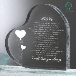 Mom i know how it can feel like time is Heart Keepsake %tag familyloves.com