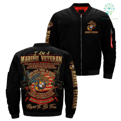 familyloves.com I Am A Marine Veteran... Over Print Jacket %tag