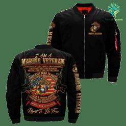 I Am A Marine Veteran... Over Print Jacket %tag familyloves.com