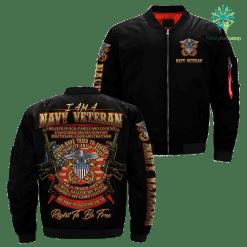 I Am A Navy Veteran... Over Print Jacket %tag familyloves.com