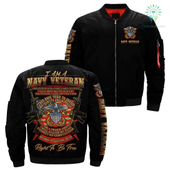 I Am A Navy Veteran... Over Print Jacket %tag familyloves.com