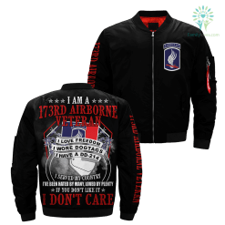 familyloves.com I Am A 173rd Airborne Veteran... Over Print Jacket %tag