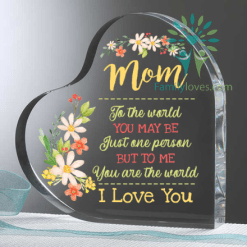 familyloves.com Mom To The World You May Be Just One Person But To Me You Are The World I Love You Heart Keepsake %tag