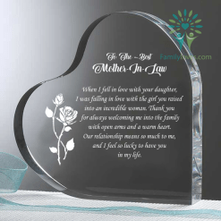 familyloves.com To The Best Mother In Law daughter Heart Keepsake %tag