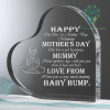 familyloves.com happy on our 1st mother' day mummy mother' day... baby bump Heart Keepsake %tag