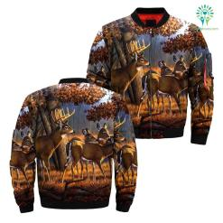 familyloves.com Deer hunting art over print jacket %tag