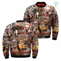 familyloves.com 3D All Over Printed Camo Hunting Animals Art 2 jacket %tag