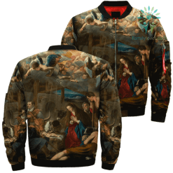 Jesus Christ The Main Shepherds Over Print Jacket %tag familyloves.com