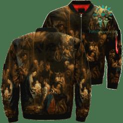 Jesus Christ Little Angels And Shepherds Over Print Jacket %tag familyloves.com