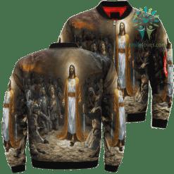 Jesus Of The Army Over Print Jacket - Over Print, XXXL %tag familyloves.com