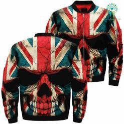 familyloves.com American Skull Over Print Jacket %tag