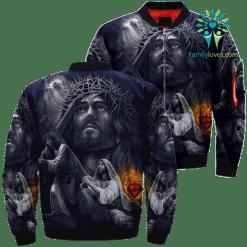 God Is Wonderful Jesus Over Print Jacket %tag familyloves.com