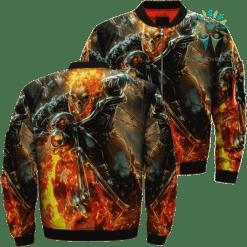 familyloves.com Cosmic Ghost Rider 4 Variant Skull Over Print Jacket %tag