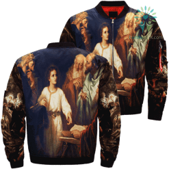 Boy Jesus In The Temple Over Print Jacket %tag familyloves.com