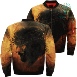 Lord's Passion Over Print Jacket %tag familyloves.com